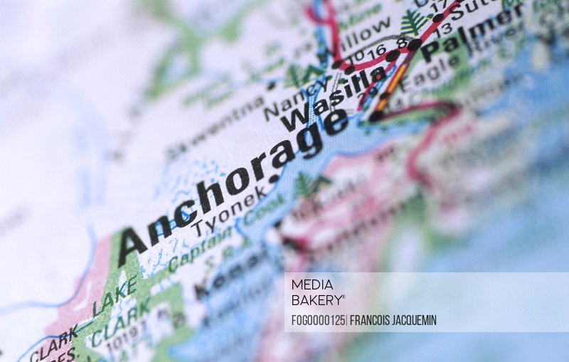 Photo by Fogstock Images - Map of Anchorage Alaska
