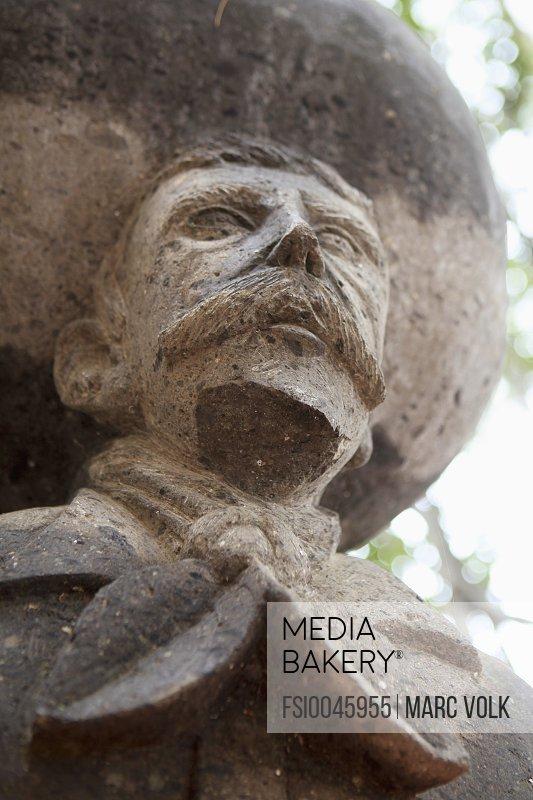 Low angle view of Emiliano Zapata statue