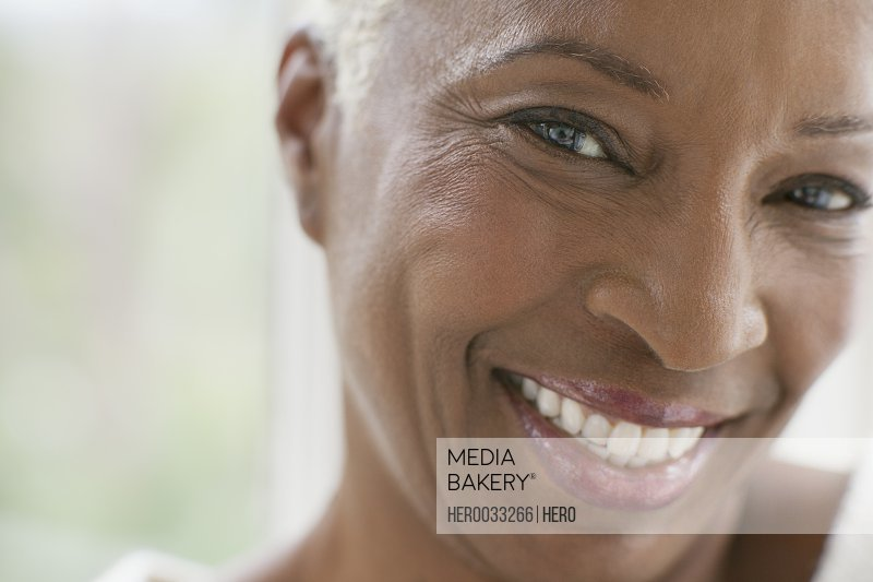 close up portrait of healthy middle aged woman