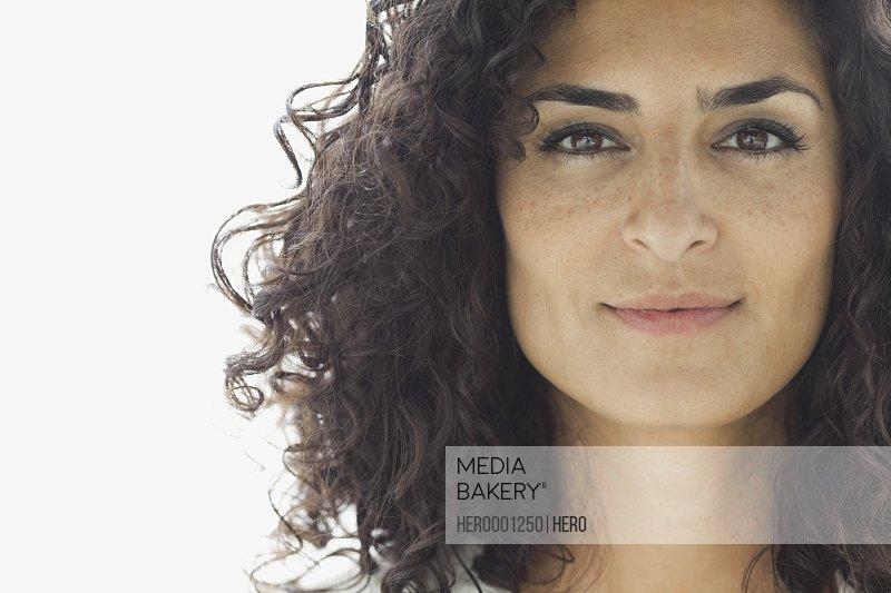 Close-up portrait of confident woman