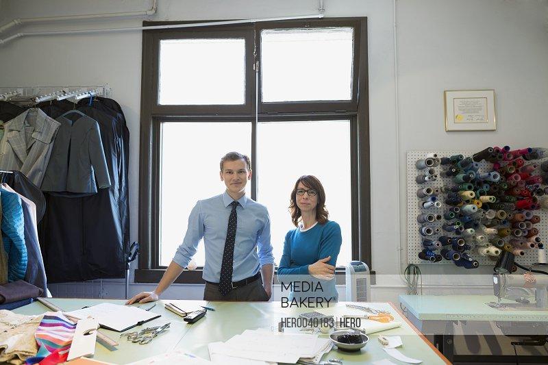 Portrait confident dressmakers