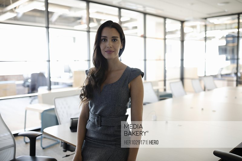 Portrait of businesswoman looking at camera