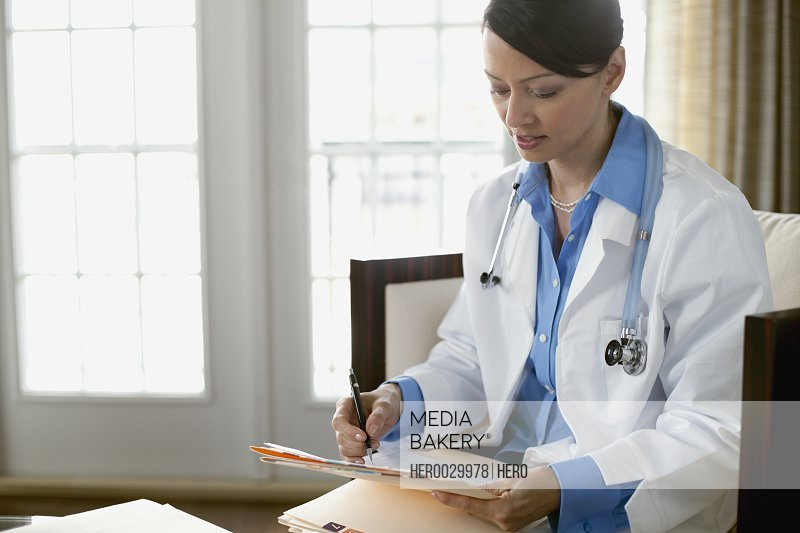 healthcare professional at clinic