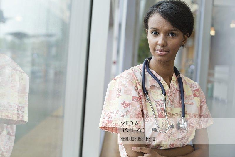 Portrait of confident nurse