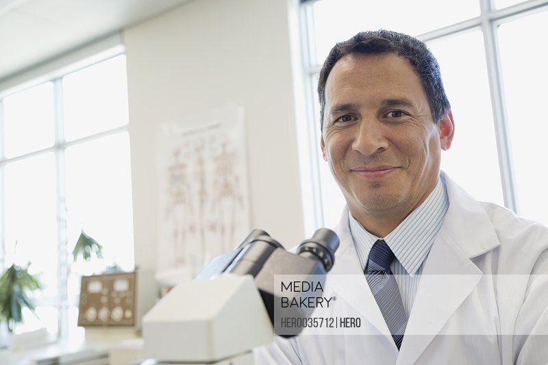 Portrait of smiling scientist