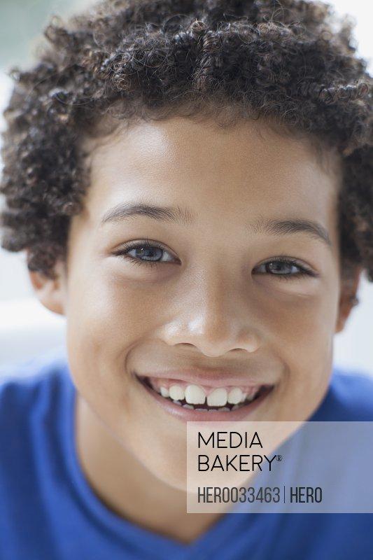 portrait of smiling preteen boy