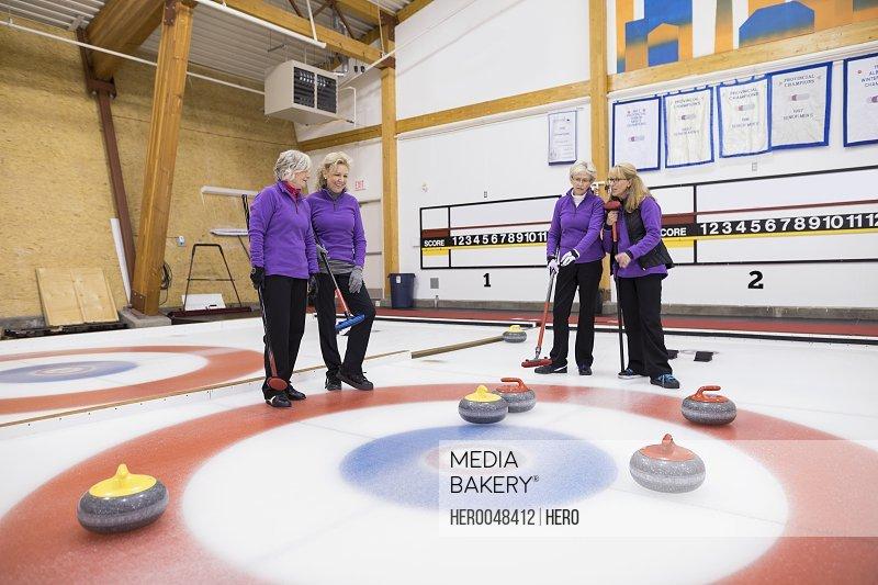 Senior women curling