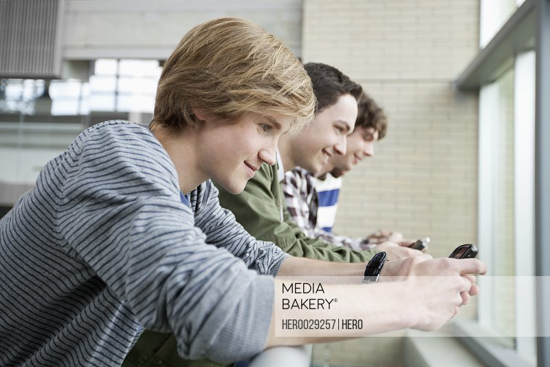 college men using computer technology