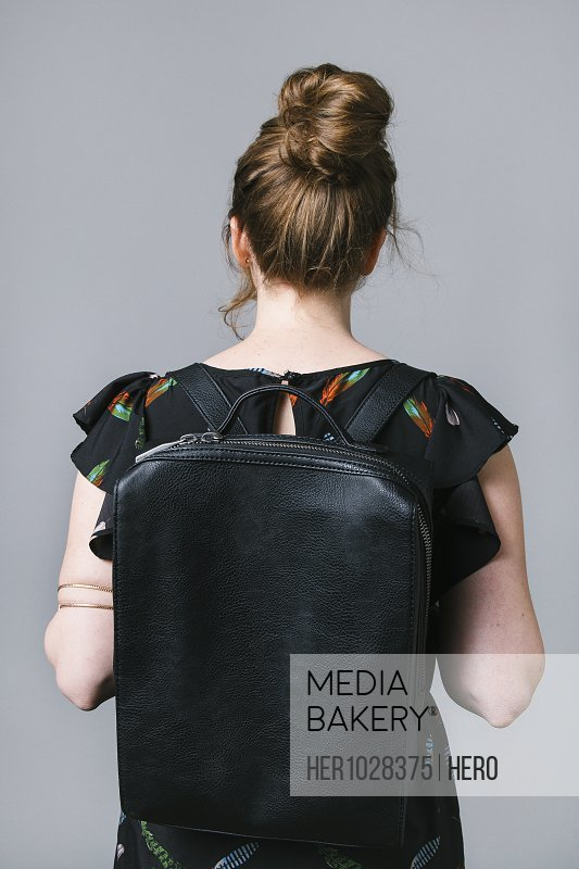 Young woman with backpack