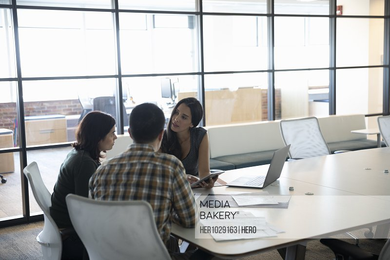 Couple in meeting with financial advisor