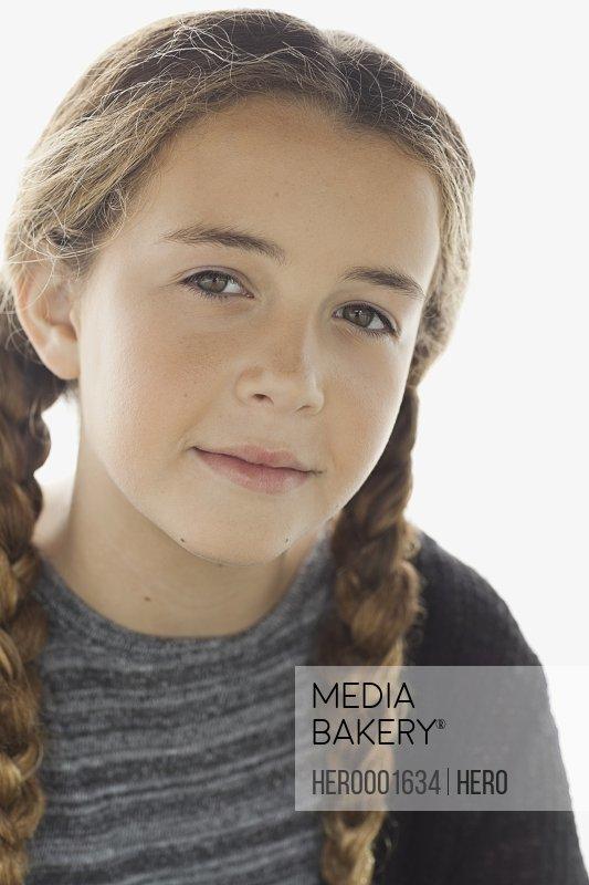 Close-up portrait of confident girl