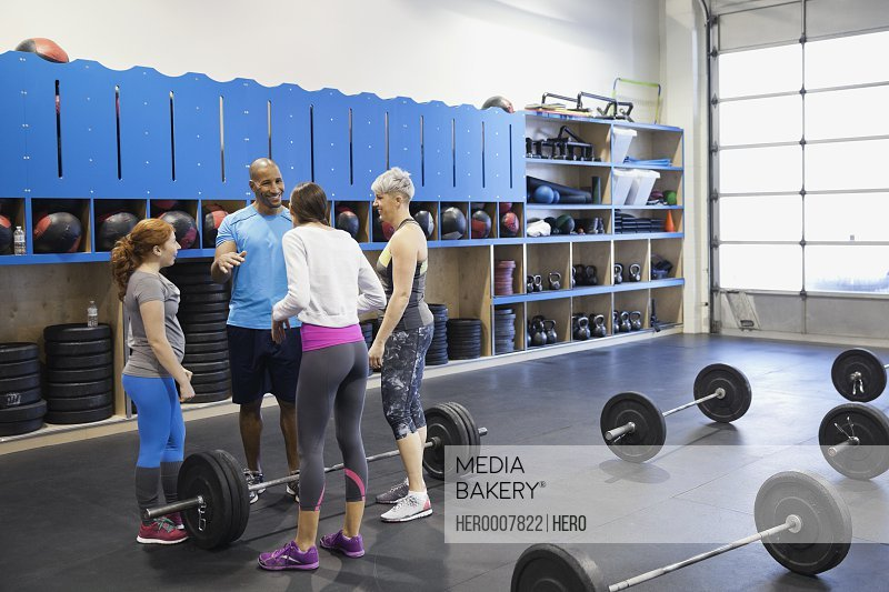 Crossfit group talking before class