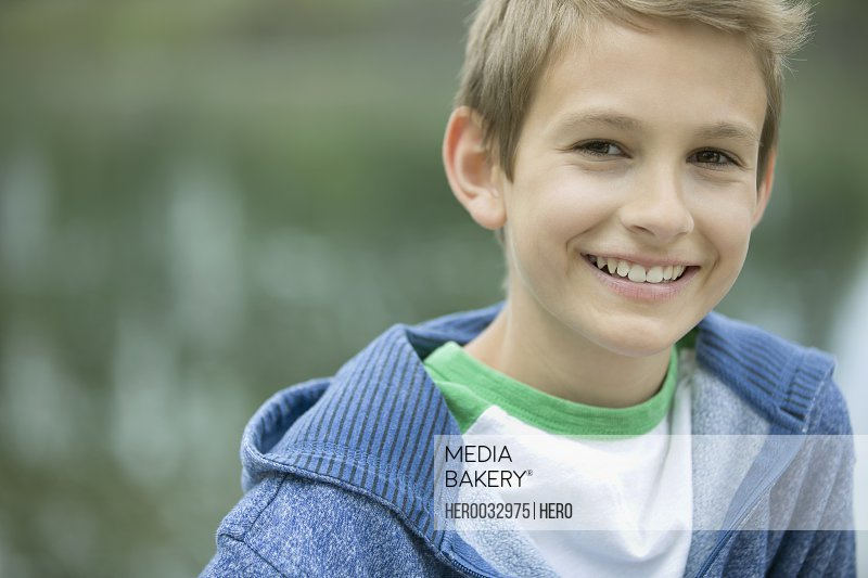 Portrait of attractive male middle school student