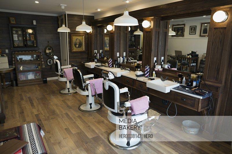 Vacant barber shop