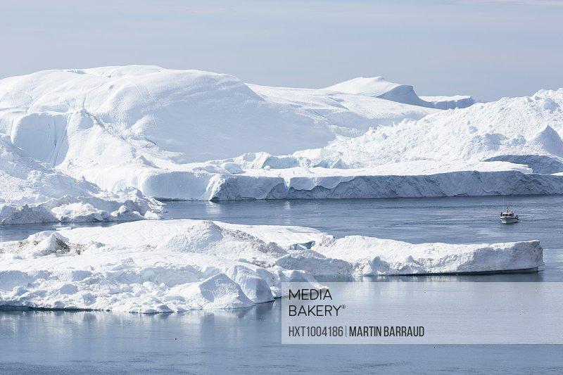 Polar glacial ice Disko Bay West Greenland