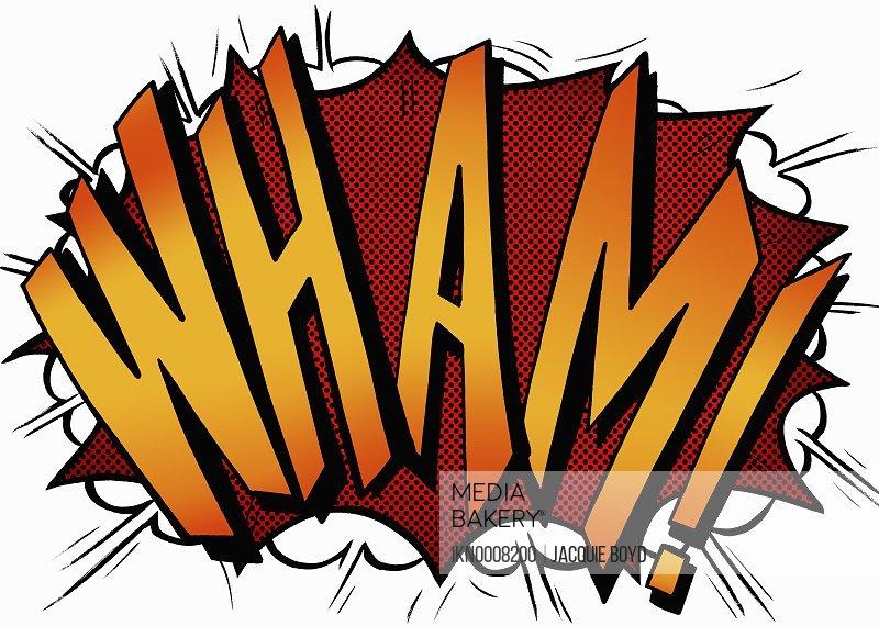 Wham comic book text sound effect