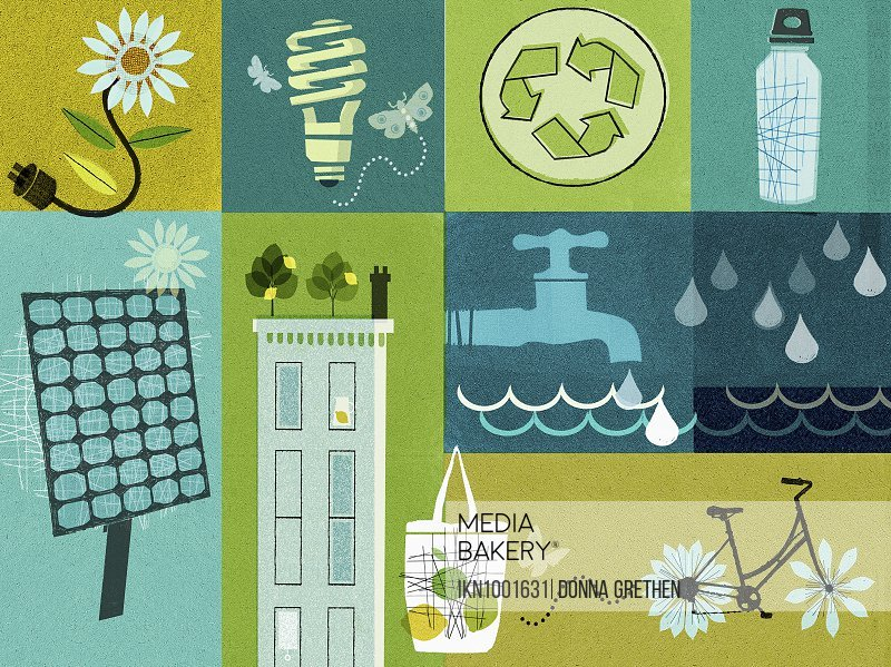 Environment and sustainability collage