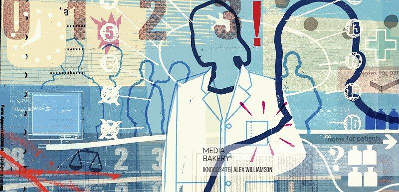 Doctors and medical symbols