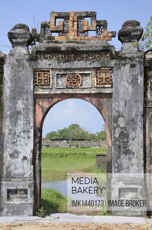 Gate, citadel, Hue, Vietnam, Southeast Asia, Asia