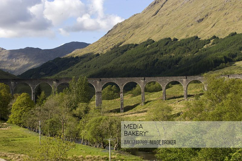 Glenfinnan railway bridge, viaduct, Scotland, United Kingdom, Europe