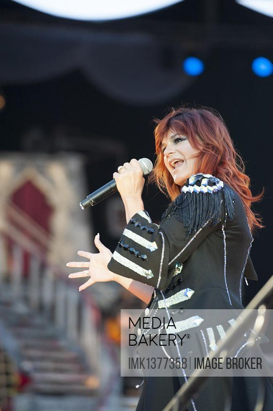 Andrea Berg the 7. Andrea Open Air concert in Aspach, Baden-Wuerttemberg, Germany, Europe