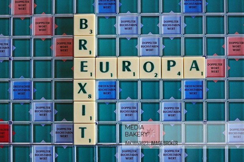 Letter game, theme Europe, Brexit, exit, Germany, Europe