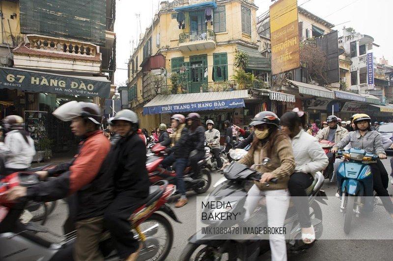 Street scene, Hanoi, Vietnam, Southeast Asia, Asia
