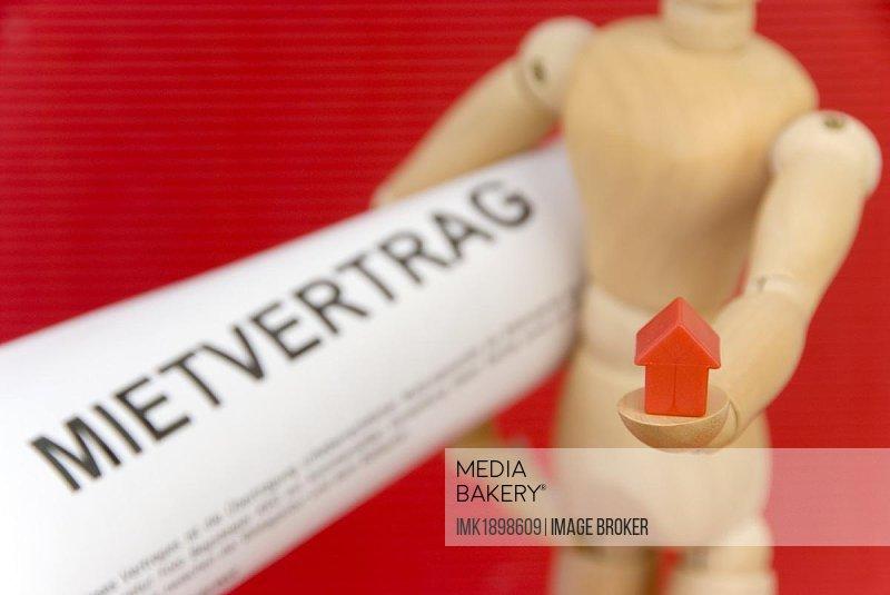 Symbolic for a rental agreement (German: Mietvertrag)