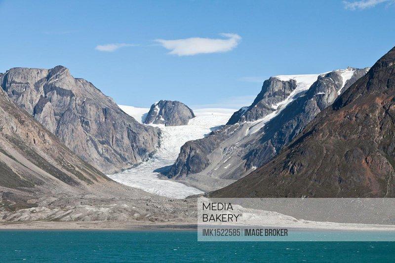 Moraine, glacier, Greenland, North America
