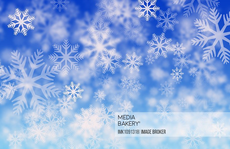Ice crystals, blue background