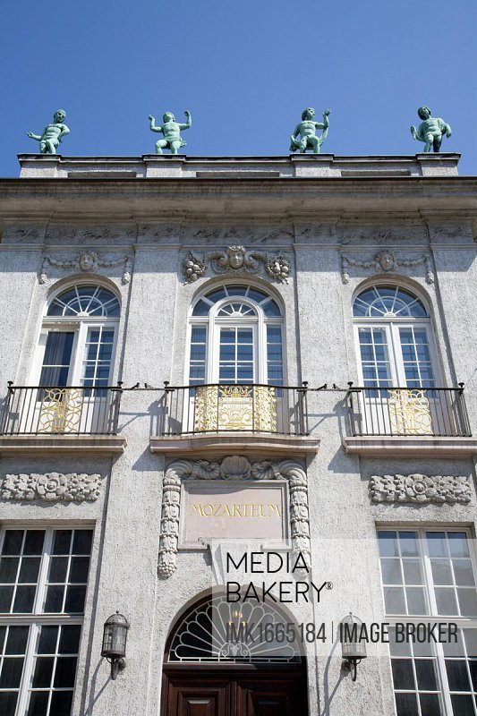 Facade of the Mozarteum, Salzburg, Austria, Europe