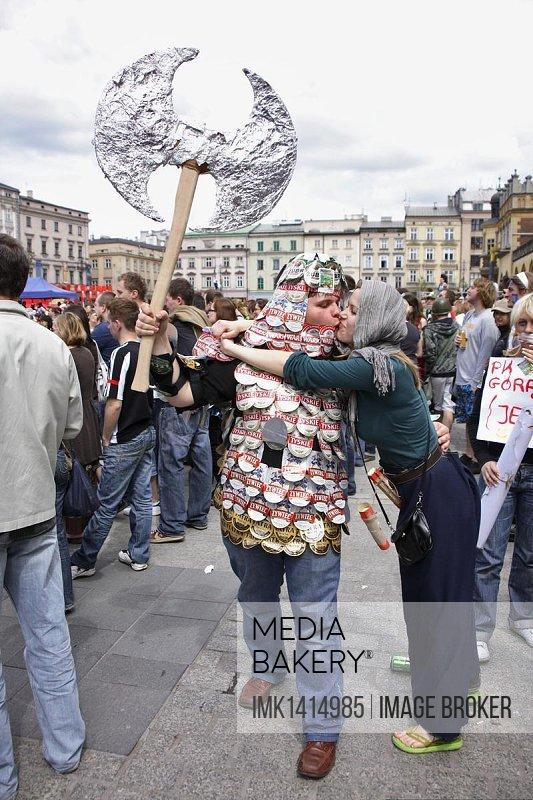 Costumed students during the Juwenalia student festival, Krakow, Poland, Europe