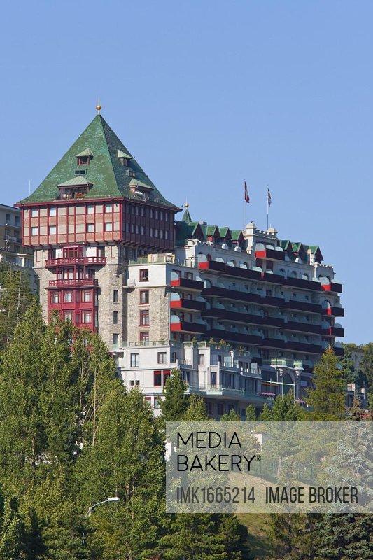 Palace Hotel, luxury hotel, St. Moritz, Upper Engadine, Engadine, Grisons, Switzerland, Europe