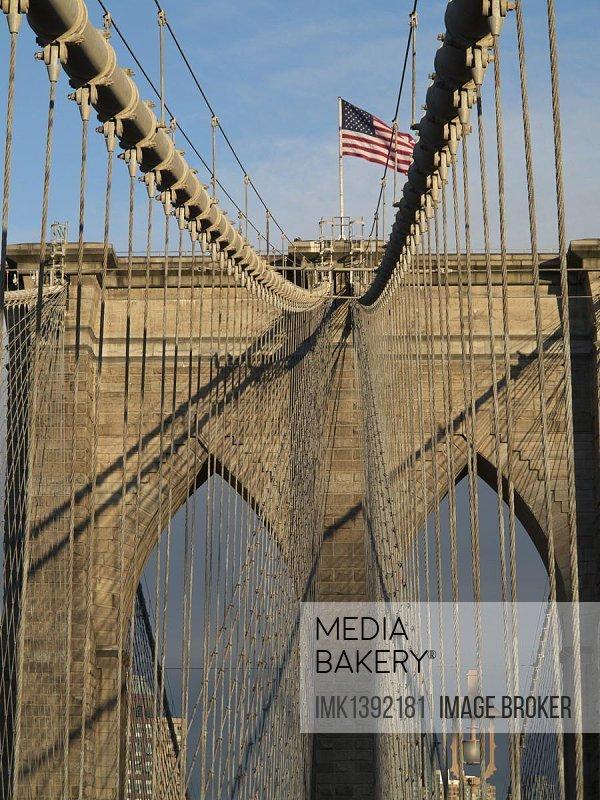 Brooklyn Bridge, Manhattan, New York, USA, North America, America, North America