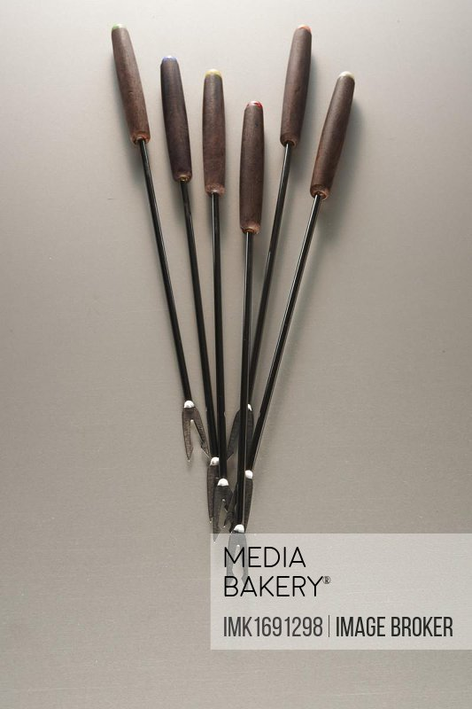 Fondue cutlery in different colors