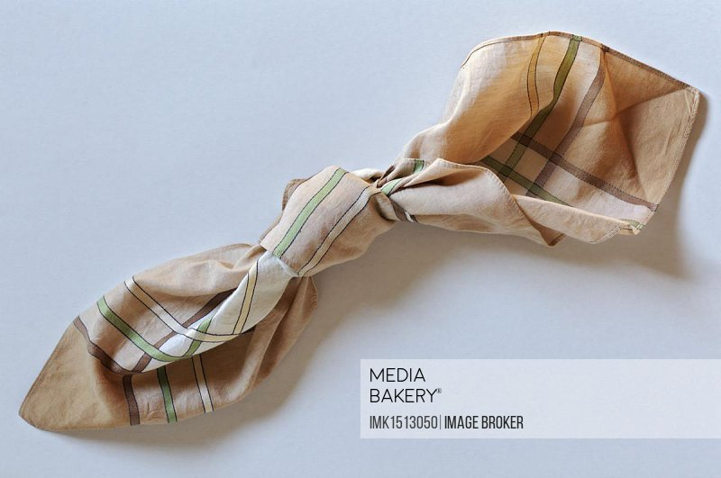 Knotted handkerchief, symbolic image, memory