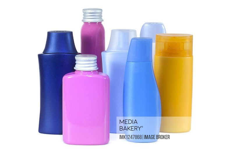 Plastic bottles, cosmetic products