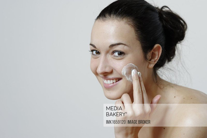Young woman, body care, skin care