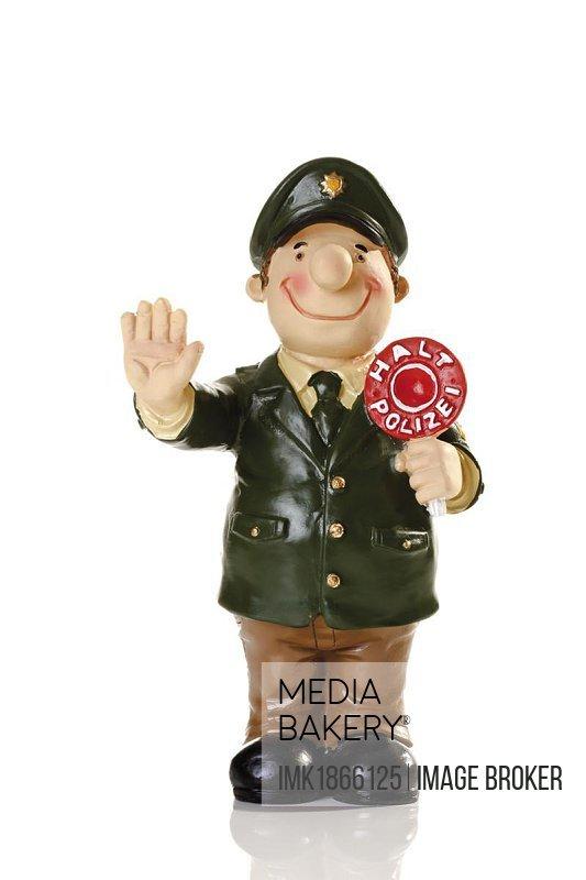 Decorative policeman figure