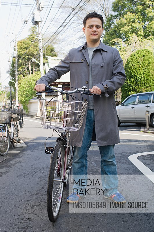 Man with a bicycle