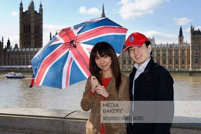 Tourist couple in london