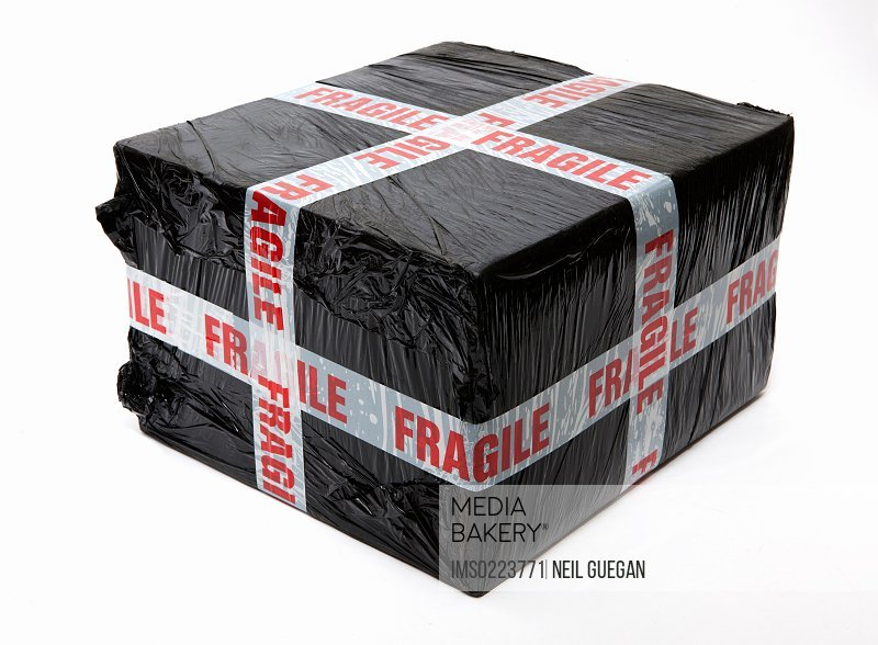Fragile wrapped package