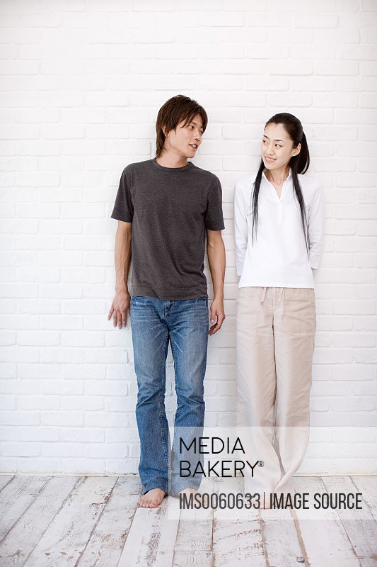 Casual japanese couple