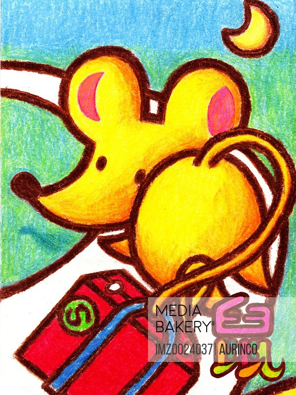 Illustration of a Chinese New Year symbol of a Mouse