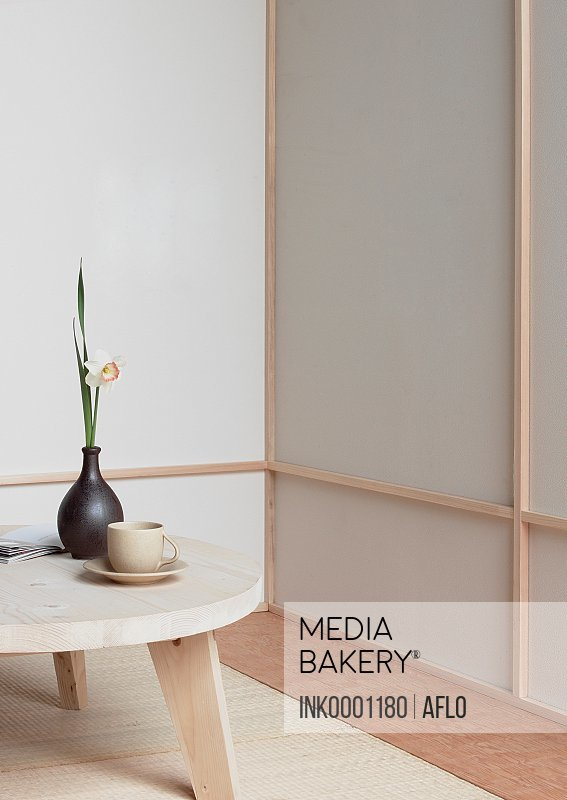 Mediabakery Photo By Ink Images Wooden Table With Teacup And