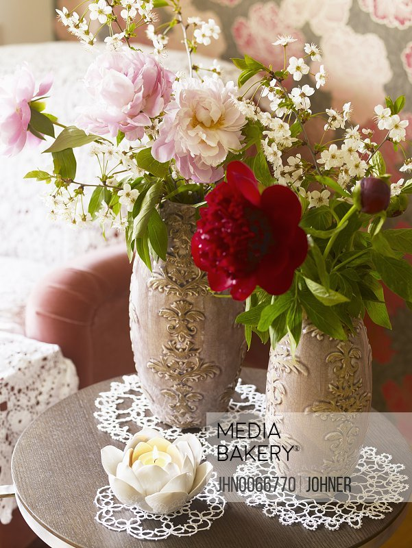 Flowers in a vase Close-up