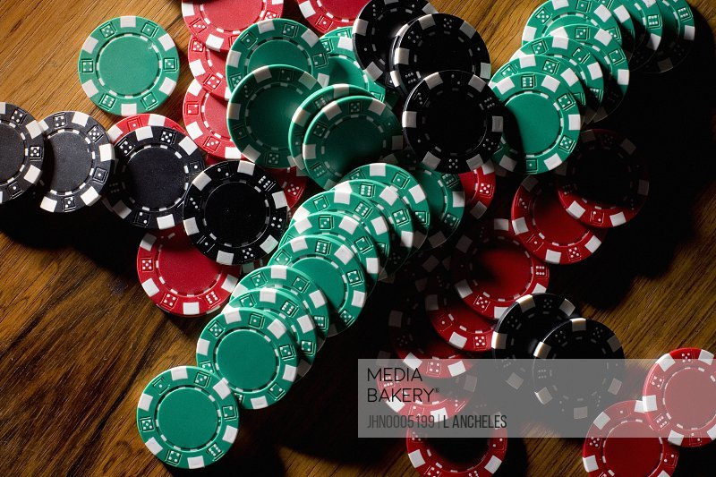 Gambling marks in different colours.