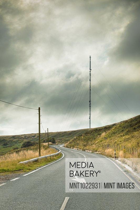 Roadway Passing Radio Tower