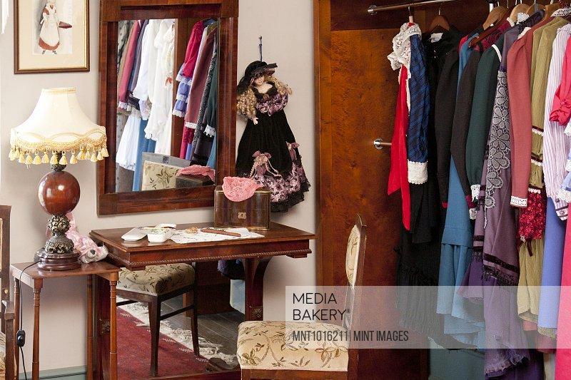 Classic Fashions in a Closet