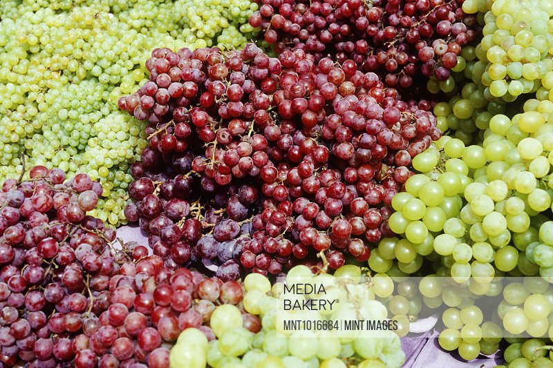 Grapes at a Market Stall